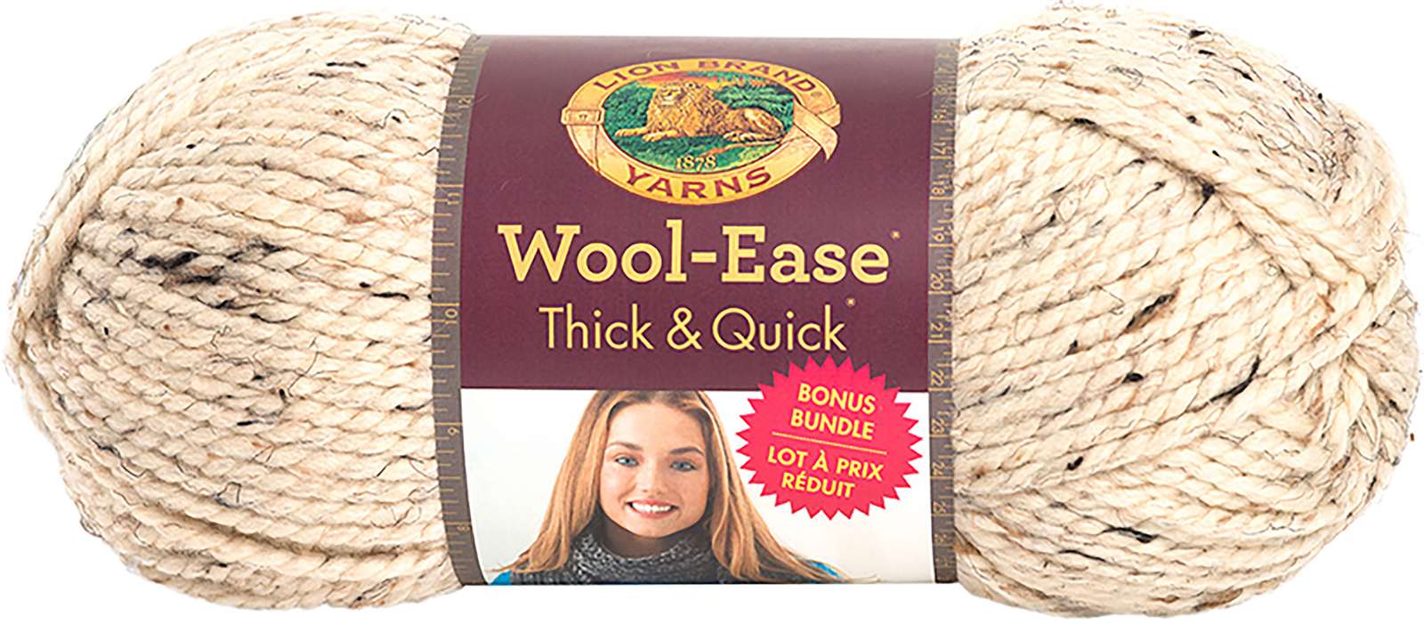 Lion Brand Wool-Ease Thick & Quick Bonus Bundle Yarn-Oatmeal - $24.34