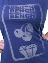 Bench UK Womens Lyme Blue Slot Machine Cherry Diamond T-Shirt BLGA2340 NWT image 3