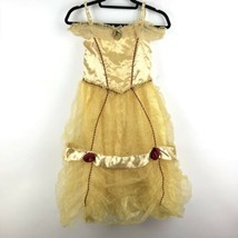 Disney Princess Girls Sz 10 Beauty and the Beast Gold Belle Fancy Dress ... - $30.84