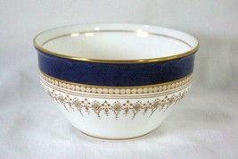 Royal Worcester Regency Blue Open Round Sugar Bowl #21686 - $62.99