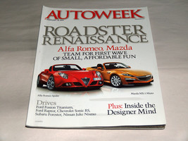 Autoweek February 2013 Car Truck Magazine Roadster Alfa Romeo Spider Maz... - $9.40