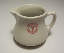 US Army Medical Department Buffalo China Restaurant Creamer Cream Pitcher  - $12.99