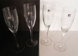 Luigi Bormioli Rigoletto Champagne Flute Goblet (s) LOT OF 4 Blown Crystal - $19.75