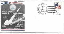 BAINBRIDGE (DLG(N)-25) 6 Oct 1962 1st Day in Commission Ship Postmark - $3.47