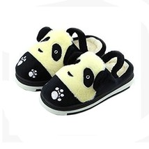 Cute Panda Winter Shoes Warm Indoor Slippers for Baby Girls (Black, L15.2CM) image 2