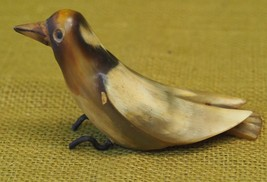 Vintage - Bird Carved Figurine from Horn - Hand Crafted  - $33.66