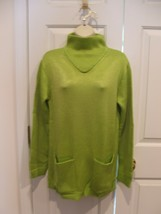 new/pkg NEWPORT NEWS  apple green funnel neck long leggings sweater  medium - $18.80