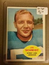 1960 Topps #46 Joe Schmidt  : Detroit Lions - $2.33