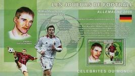 Football Soccer Player Andriy Shevchenko Sport Souvenir Sheet Mint NH - $15.30