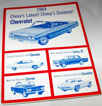 1964 Chevrolet Song Book Sing of the USA Corvette Corvair Chevelle Chevy II USA - $29.99