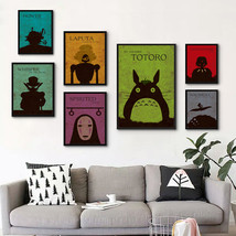 Miyazaki's Classic Japanese Animated Film Collection Canvas Painting Art... - $26.94