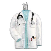Doctor Coat Holiday Ornament Glass - $41.76