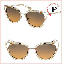 BVLGARI SERPENTI Temptalicious BV6104 Gold Orange Scales Metal Sunglasse... - $252.45