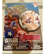 Marvel Avengers 27 temporary Prism FOIL tattoos pack - $6.81