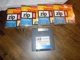 Iomega 250 Zip Drive Disks 5pc Lot USED - $24.74