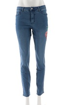 Women with Control My Wonder Denim Novelty Jeans Mid Blue 14 NEW A309509 - $40.57
