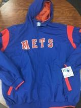 New York Mets Men XLarge Pullover V-Neck Embroidered Jacket MLB GENUINE  C25 - $43.53