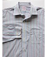 Brooks Brothers Men's 346 Striped Non Iron Long Sleeve Dress Shirt 16.5 ... - $19.95