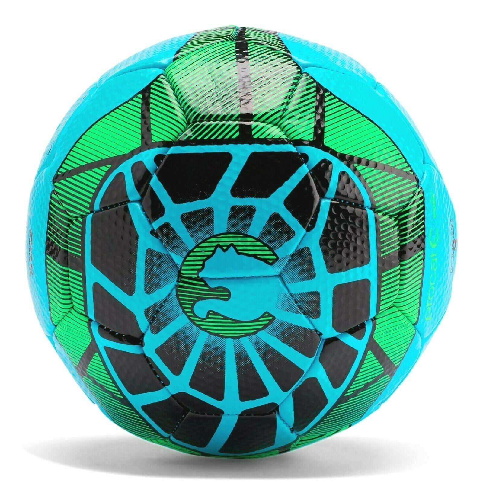 Puma ProCat Geomax Green Black Blue Competition Soccer Ball Offiziell Sz 4 or 5