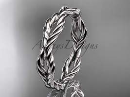 Platinum twisted rope wedding band RP8117G - $680.00