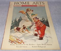 Home Arts Needlecraft Magazine Cover Art January 1937 H Hoecker Cover - $8.95