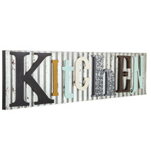 KITCHEN Room Plaque Rustic Galvanized Metal Country Farmhouse Sign Farm ... - $74.13