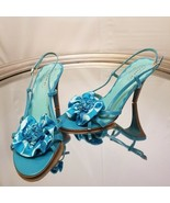 Coach slingback blue sandals size 8 M. - $138.60