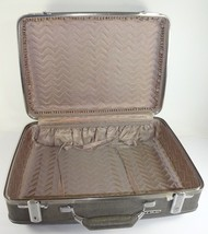 VTG Retro American Tourister Thatched Gray Hardcase Travel Luggage Train Case - $73.88