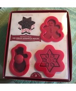 Williams-Sonoma Christmas/Winter Ice Cream Sandwich Molds SET of 3  NEW! - $16.82