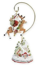 Fitz & Floyd Damask Holiday Dated Christmas Ornament 2018 w/ Stand Remov... - $632,52 MXN
