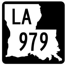 Louisiana State Highway 979 Sticker Decal R6241 Highway Route Sign - $1.45+