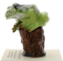Hagen-Renaker Miniature Ceramic Frog Figurine Tree Frog on Stump