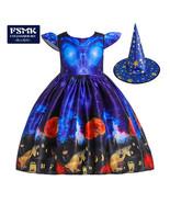 Children Dress Halloween Princess Dress Ghost Print Children's Dress wit... - $27.31