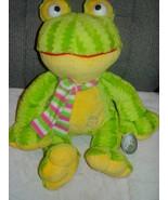 "Green & Yellow Frog Carousel Soft toys 24K Series Stuffed Animal 16"" Tall - $14.00"