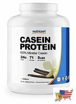 Nutricost Casein Protein Powder 5lb Vanilla - 100% Micellar Casein - $83.63