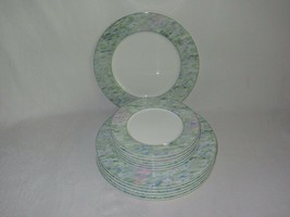 Mikasa Van Gogh in Arles 1875 Vintage 6 Dinner + 6 Salad Plates Pastel Colors - $69.29
