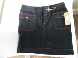 NWT Lauren Jeans Co. Nolita Blue Jean Knee Length Skirt by Ralph Lauren Size 8 - $36.99