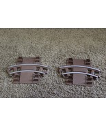 Lincoln Logs Sawmill Express Train Track Replacment Parts 2 curved pieces - $12.25