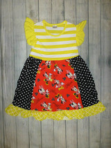 NEW Boutique Minnie Mouse Girls Ruffle Dress Size 6-7 - $12.86