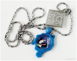 Acrylic Anime Pendant, Stainless Steel, Blue - $14.00