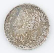 1869 Belgium 5 Francs Natural Toned, About Uncirculated  KM24 - $74.25