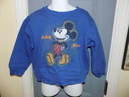 Disney Store Exclusive Mickey Mouse Blue Sweatshirt Size XXS (2/3) Youth... - $20.70