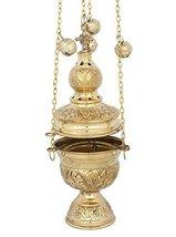 Brass Christian Church Thurible Incense Burner Censer (127 B) - $73.04