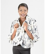 Chic Ladies Faux Fur Short Jacket, Work or Play, Khaki or Gray, Radzoli ... - $44.99
