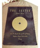 Menu from 1960's The Center Steak House  6025 N. Lincoln Ave. Chicago, IL  - $35.00