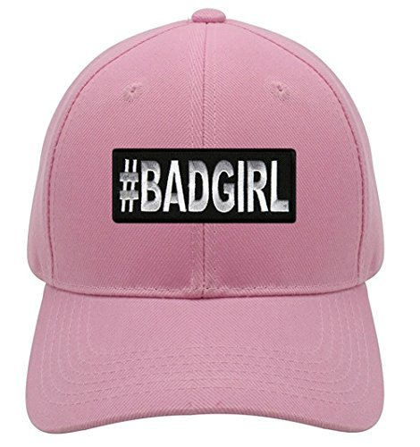 #BadGirl Hat - Pink Adjustable Womens - Funny Women's Hat