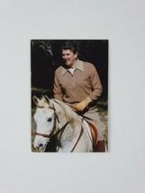 Ronald Reagan Vintage Riding Grey Horse El Amamein 2.5 x 3.5 Photo Wallet - $19.75