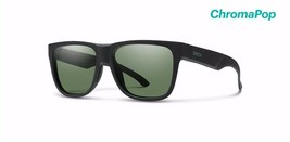 Smith Lowdown 2 Sunglasses, Matte Black Frame, Chromapop Polar Grey Green Lenses - $169.00