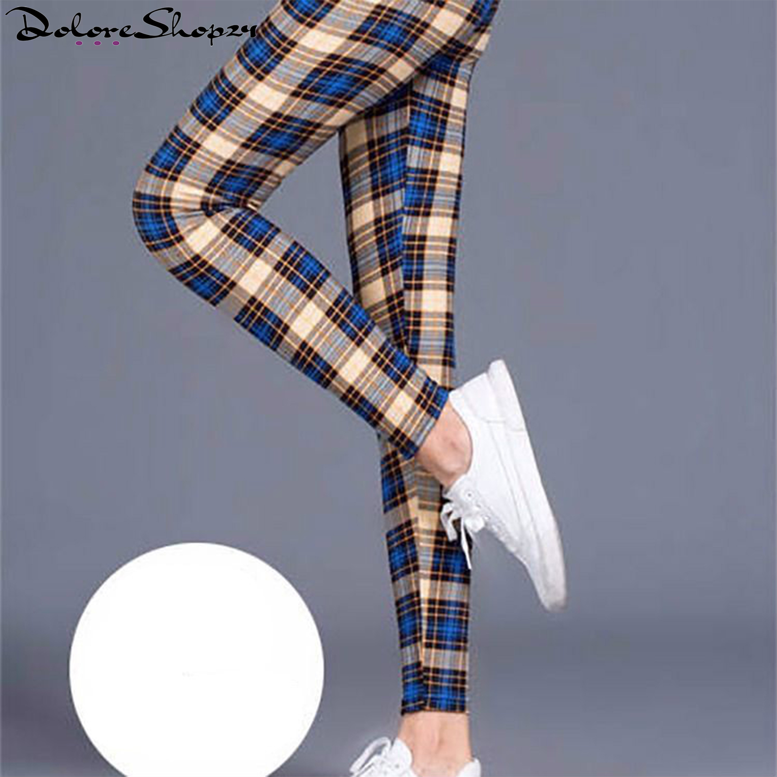 Primary image for CUHAKCI Female Fitness Leggings Women Print Plaid Leggings Lady Sexy Slim Pants