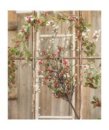 Glitter Dusted Holly Berry Garland 6ft Christmas Decor Mantel Door Count... - $39.59